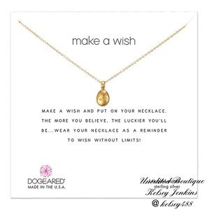 NWT - DOGEARED Faith Make a Wish Necklace